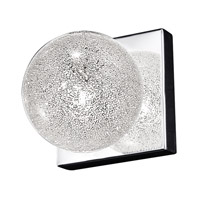 Opulence 1 Light 5 inch Mirrored Stainless Steel Vanity Light Wall Light