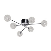 Opulence 6 Light 31 inch Chrome Semi-Flush Mount Ceiling Light