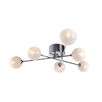 Opulence LED 31 inch Chrome Semi Flush Mount Ceiling Light