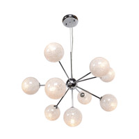 Opulence 10 Light 23 inch Chrome Chandelier Ceiling Light