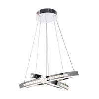 Affluence LED 24 inch Chrome Pendant Ceiling Light