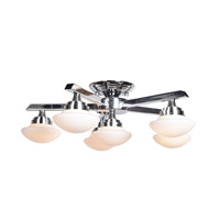 Atomiser LED 24 inch Chrome Semi Flush Mount Ceiling Light