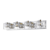 Access 62557LEDD-MSS/CCLCLR Private Collection LED 28 inch Mirrored Stainless Steel Vanity Light Wall Light