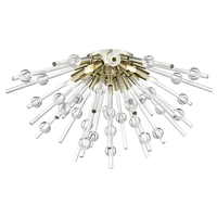 Access 63120LEDDLP-ABRZ/CLR Burst LED 21 inch Antique Bronze Flush Mount Ceiling Light
