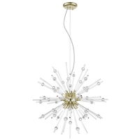 Access 63122LEDDLP-ABRZ/CLR Burst LED 28 inch Antique Bronze Pendant Ceiling Light
