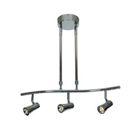 Sleek 3 Light 120V Chrome Track Lighting Ceiling Light