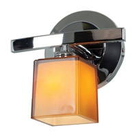 Sydney 1 Light 8 inch Chrome Vanity Wall Light in  7.5 inch, Amber