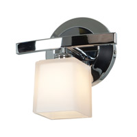 Access 63811-18-CH/OPL Sydney 1 Light 8 inch Chrome Vanity Wall Light in 7.5 inch Opal