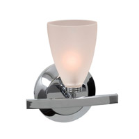 Sydney 1 Light 8 inch Chrome Vanity Wall Light in  7.5 inch, Frosted