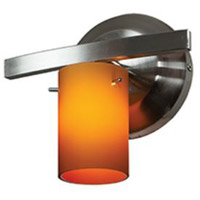 Access 63811-47-CH/AMB Classical 1 Light 8 inch Chrome Vanity Wall Light in 7.5 inch Amber