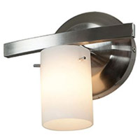 Access 63811-47-CH/OPL Classical 1 Light 8 inch Chrome Vanity Wall Light in 7.5 inch Opal