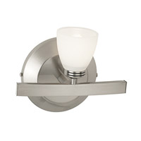 Sydney 1 Light 8 inch Matte Chrome Vanity Wall Light in  7.5 inch