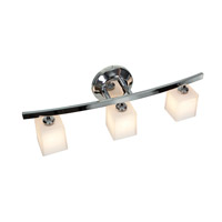 Sydney 3 Light 22 inch Chrome Vanity Wall Light in Opal