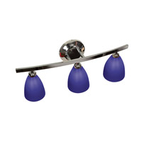 Access 63813-19-CH/COB Sydney 3 Light 22 inch Chrome Vanity Wall Light in Cobalt