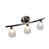 Sydney 3 Light 22 inch Chrome Vanity Wall Light in Frosted
