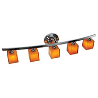 Access 63815-18-CH/AMB Sydney 5 Light 32 inch Chrome Vanity Wall Light in Amber