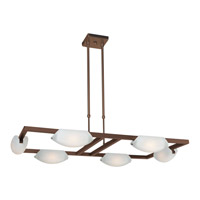 Access Lighting Nido 6 Light Chandelier in Oil Rubbed Bronze 63962-ORB/FST