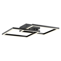 Access 63966LEDD-BL/ACR Squared LED 19 inch Black Flush Mount Convertible Ceiling Light