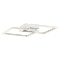 Access 63966LEDD-WH/ACR Squared LED 19 inch White Flush Mount Convertible Ceiling Light