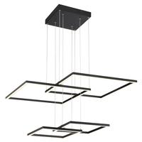 Access 63968LEDD-BL/ACR Squared LED 31 inch Black Pendant Ceiling Light