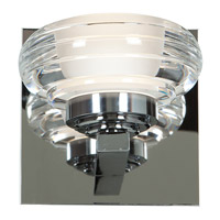Access 63971LEDD-CH/ACR Optix LED 5 inch Chrome Vanity Light Wall Light in 3000K Acrylic