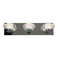 Optix LED 19 inch Chrome Vanity Light Wall Light in 3000K, Acrylic