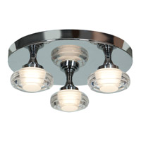 Access 63978LEDD-CH/ACR Optix LED 14 inch Chrome Flush Mount Ceiling Light