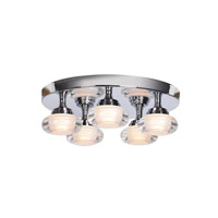 Access 63979LEDD-CH/ACR Optix LED 16 inch Chrome Flush Mount Ceiling Light