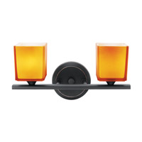 Access Lighting Hermes 2 Light Vanity in Oil Rubbed Bronze 64002-ORB/AMB