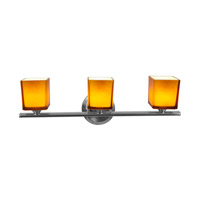 Access Lighting Hermes 3 Light Vanity in Brushed Steel 64003-BS/AMB photo thumbnail