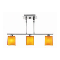 Access Lighting Hermes 3 Light Pendant in Brushed Steel 64013-BS/AMB photo thumbnail