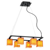 Access Lighting Hermes 6 Light Chandelier in Oil Rubbed Bronze 64016-ORB/OPL photo thumbnail