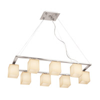 Access Lighting Hermes 8 Light Chandelier in Brushed Steel 64018-BS/AMB photo thumbnail