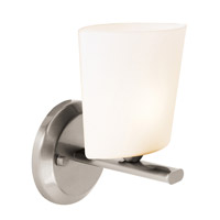 Access Lighting Thea 1 Light Vanity in Brushed Steel 64031-BS/OPL photo thumbnail