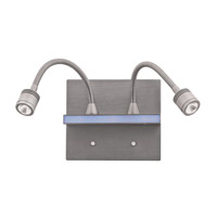 Access Lighting Epiphanie 2 Light Wall Task Light in Brushed Steel 70002LED-BS