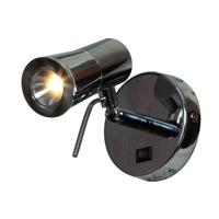 Access 70018LED-CH Cyprus 2 5 inch 3 watt Chrome Headboard Light Wall Light