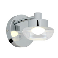 Access Lighting Dewdrop 1 Light Vanity in Chrome with CLFR Glass 70041LED-CH/CLFR