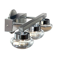 Access Lighting Dewdrop 3 Light Vanity in Chrome with CLFR Glass 70043LED-CH/CLFR alternative photo thumbnail
