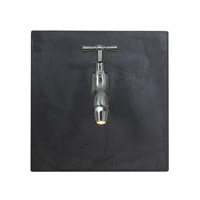 Access Lighting Waterworks 1 Light Wall Art in Chrome with Grey Glass 70060LED-CH/GREY