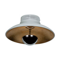 Access Pulsar 1 Light Flush Mount in White and Gold 70072LEDD-WH/GLD