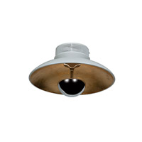 Access Lighting Pulsar 1 Light Flush Mount in White and Gold 70072LED-WH/GLD photo thumbnail