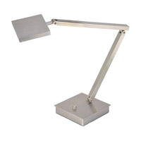 TaskWerx 14 inch 6.3 watt Brushed Steel Task Lamp Portable Light