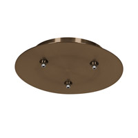 Access Lighting Unijack 3 Light 3-Port Round UniJack Canopy in Bronze 87120UJ-BRZ