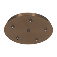Access Lighting Unijack 5 Light 5-Port Round UniJack Canopy in Bronze 87121UJ-BRZ