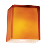 Hermes _ 3 inch Glass Shade in Amber