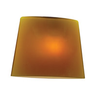 Thea _ 3 inch Glass Shade in Amber, Oval