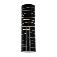 Access Lighting Anari Silk (l) Duplex Cylinder with Black Lined Glass 932V-BLKLN