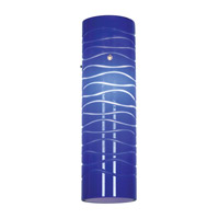 Anari Silk Blue Lined 3 inch Glass Shade