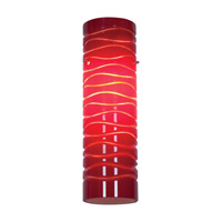 Access Lighting Anari Silk (l) Duplex Cylinder with Red Lined Glass 932V-REDLN photo thumbnail