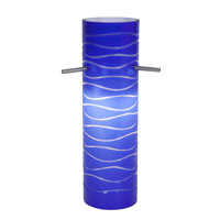 Access Lighting Anari Silk (l) Duplex Cylinder with Blue Lined Glass 932V-BLULN